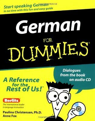 German For Dummies by Fox, Anne Paperback Book The Cheap Fast Free Post
