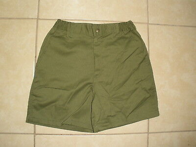Vintage BSA Boy Scouts of America Green uniform Shorts USA MADE 28 Waist Size 16