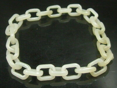 Antique  Chinese Celadon Nephrite Hetian- jade bangle Concentric lock bracele