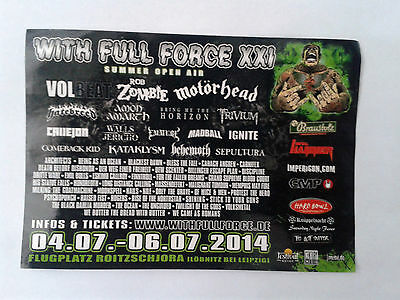 STICKER - WITH FULL FORCE - WFF 2014 Motörhead/Volbeat/Amon Amarth/Rob Zombie
