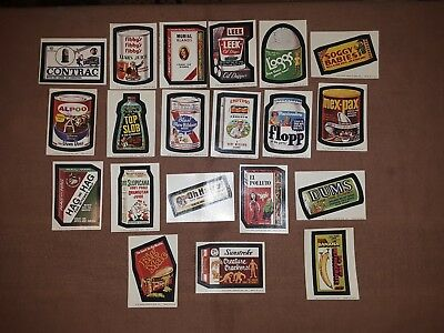 Original Topps Wacky Packages  Lot of 49 Vintage Stickers Trading Card