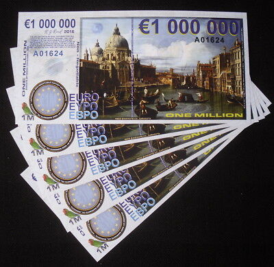 1,000,000 EUROS NAPLES BANK NOTE COMPANY FINE ENGRAVED PAPER FANTASY ART BILL!