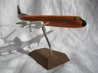 Braniff International Airlines (L-188) Desktop Model (Repaired) *ships Free 2 Us