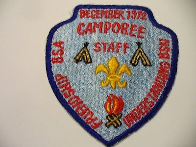 1972 Boy Scouts of Nippon BSN/BSA Friendship Camporee STAFFPatch Far East Japan