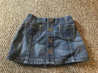 Next Girls Denim Skirt 12-18 Months
