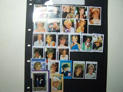 Stamps Princess Diana Lady Di x 25