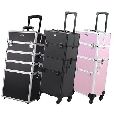 Pro Aluminum Makeup Case Cosmetic Artist Salon Studio Train Storage Box Type Opt