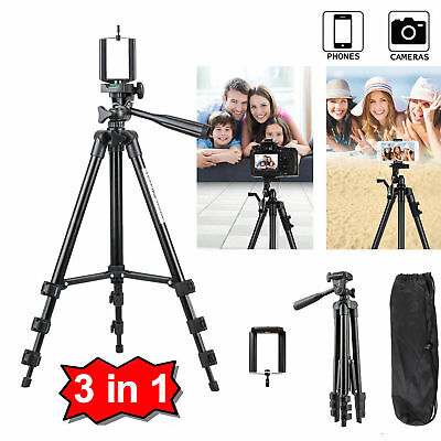 Professional Camera Tripod Stand Mount + Phone Holder for iPhone X XR XS MAX 8 7