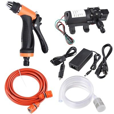 12V 100W 160PSI Auto Wash Gun Pump High Pressure Car Electric Washer w/ Charger