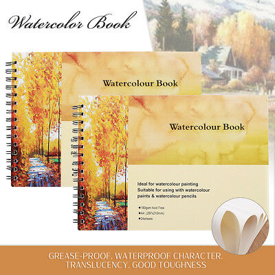 24 Pages A4 Watercolour Paper Book Art Sketchbook Sketch For Drawing Painting