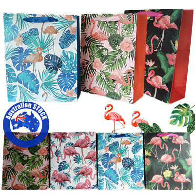 24Pcs Paper Gift Wrapping Bags Flamingo Eco Pouch Candy Cookies Wedding Storage