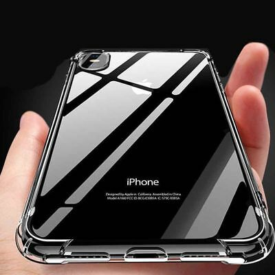 For iPhone XS MAX XR X 6 7 8 Plus Case Shockproof Clear Silicone Gel Soft Cover
