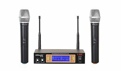 GTD Audio 2Ch UHF  Handheld Wireless Microphone Mic System  NEW 35H