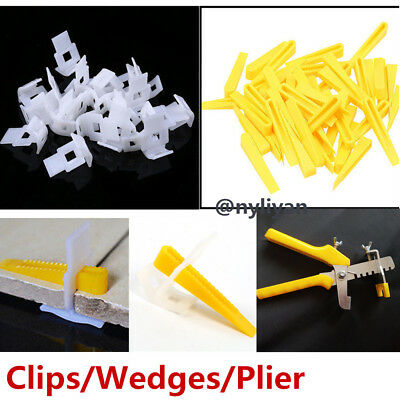 Clips/Wedges Tile Leveling System Floor Wall Spacer Tiling Tool Pliers Install