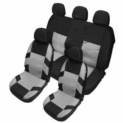 9Pcs/Set Universal Car Seat Covers Front Rear Back Head Rest Full Set Protector