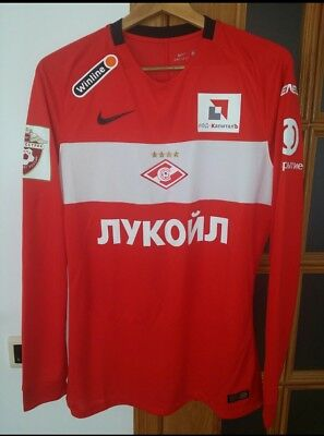 Spartak Moscow (Russia) Official Matchworn Home Shirt #18