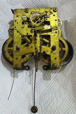 New Haven Clock Co 8 Day Norwich Line Striking Clock Movement