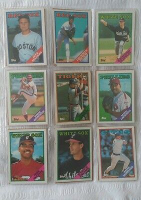 1988 16  American  Topps  Baseball    Cards In Total Plus Checklist Card