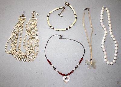 Lot of Vintage to New Beaded Necklaces--Estate Jewelry--Great for Crafting!