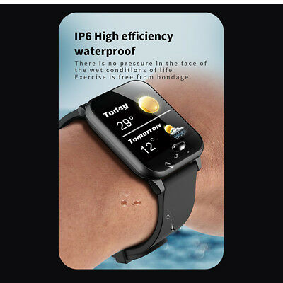Waterproof Smart Watch Heart Rate Monitor Bracelet Wristband for iOS Android NEW