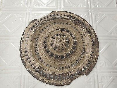 Vintage Antique Metal Ornate Soffit Vent Round Architectural Salvage