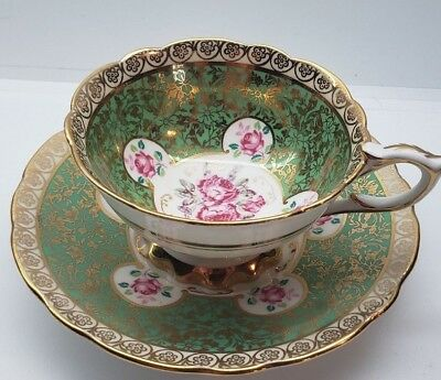 vintage  ROYAL  STAFFORD CUP & SAUCER  ROSES & GOLD DECORATIONS 8268