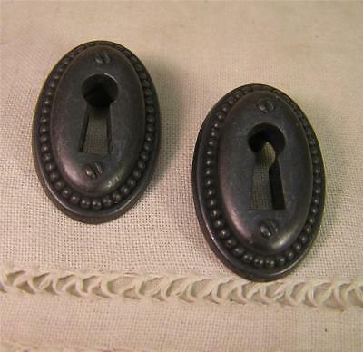 5 Vintage Style Oil Rubbed Escutcheon Key Hole Cover Cabinet Furniture Hardware'