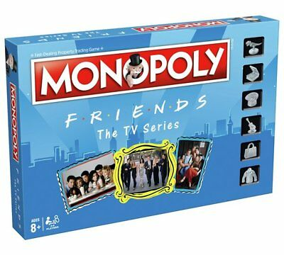 Official Friends Tv Series Monopoly Traditional Trading Board Family Game
