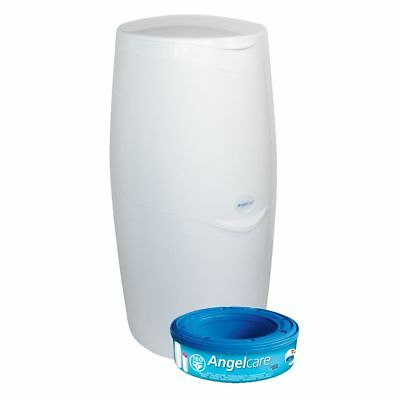Angelcare Baby Nappy Disposal System Bin Includes 1 Refill Cassette