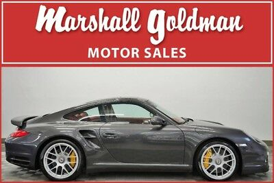 2011 Porsche 911  2011 911 Turbo S coupe paint to sample Lava Grey with Red 17,200 miles