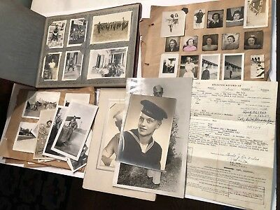 WWII Military Photos Scrapbook-Discharge Papers 784th Military Police Battalion