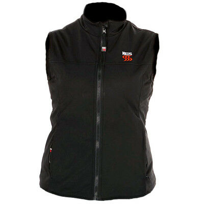 Keis X30 Ladies Heated Bodywarmer - Black Motorcycle Horse Riding Size Large