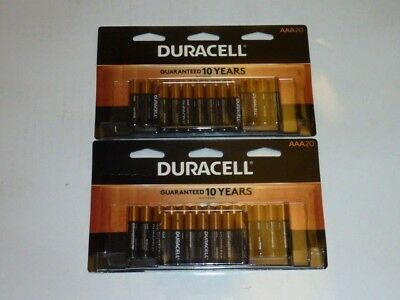 Lot of 40 Duracell Copper Top AAA Batteries Retail Packaging Expires 03/2028 New