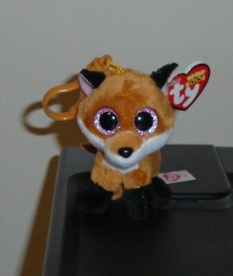 4e4efba71b0 TY BEANIE BOOS - SLICK the Brown Fox (Glitter Eyes) (Plastic Key ...