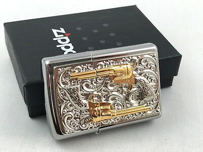 ZIPPO lighter The Golden Revolver Limited Special Edition18K dusted gold inlays