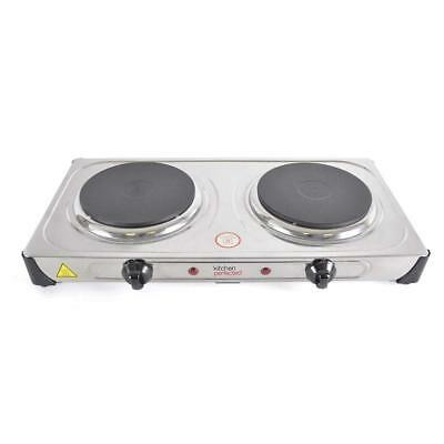 2000W Double PORTABLE ELECTRIC HOTPLATE Cooking Hob Stove Cooker Boiling Ring