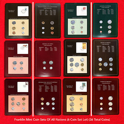 Franklin Mint Coin Sets Of All Nations (6 Set Coin Lot) (36 Total Coins) All Bu