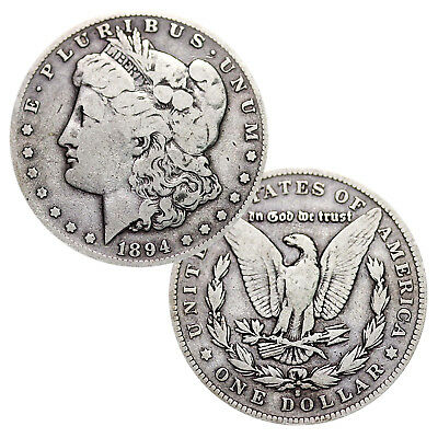 Lot of 2 - Pre-1921 90% Silver Morgan Dollar (1878-1904) Circulated
