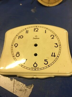 Junghans Clock Face Only. Porcelain With  Marks To The Back