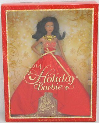 Mattel Holiday Barbie Doll 2014 Barbie Collector African American BDH14 NRFB