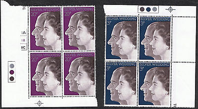 Royal Silver Wedding 1972 - Mint Stamps Blocks with Traffic Lights