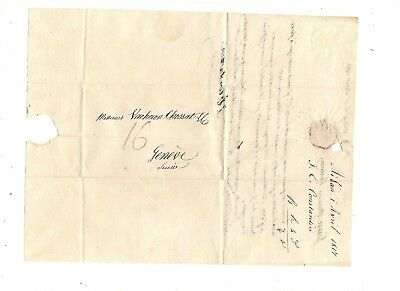 1817 Stampless Folded Letter, Milan Italy To Switzerland,