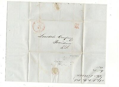1846 Stampless Folded Letter, Pm Apalachicola, Fl, From T. Mitchell, Ref:  Death