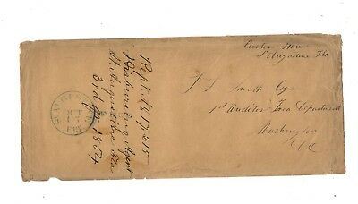 1854 Stampless Cover, Pm St. Augustine Fl, From Disbursement Agent