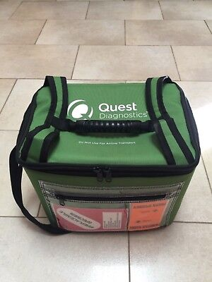 Quest Diagnostics Cooler Bag Medical Insulation Cooling Case Biohazard Specimen
