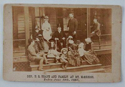 1885 CABINET CARD PHOTOGRAPH OF ULYSSES S GRANT AND FAMILY AT MOUNT McGREGOR