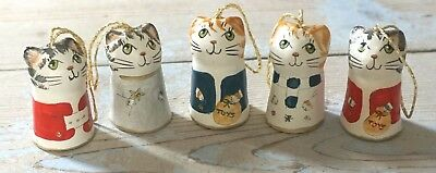 Merryfield Pottery Christmas  Cat Hanging Decorations