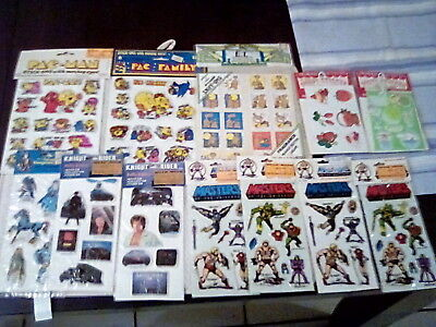 Vintage Puffy Sticker lot Dungeon & Dragons,PAC FAMILY,MOTU,E.T. Scratch & Sniff