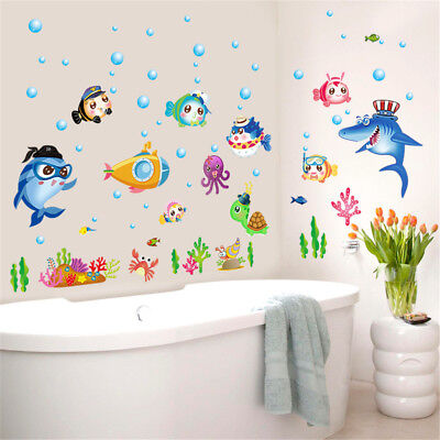 Cartoon Fish Ocean Home Room Decor Removable Wall Stickers Decal Decoration 02fbd82ddf4d