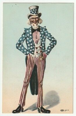 Uncle Sam Standning with Hands on Hip~Red White & Blue Clothes~Patriotic~1907+